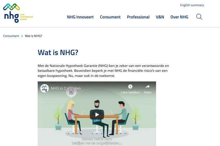 NHG: Nationale Hypotheek Garantie